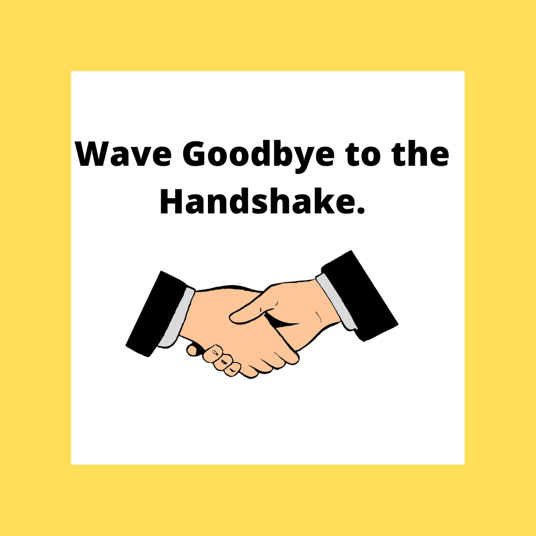 Graphic of two people shaking hands.